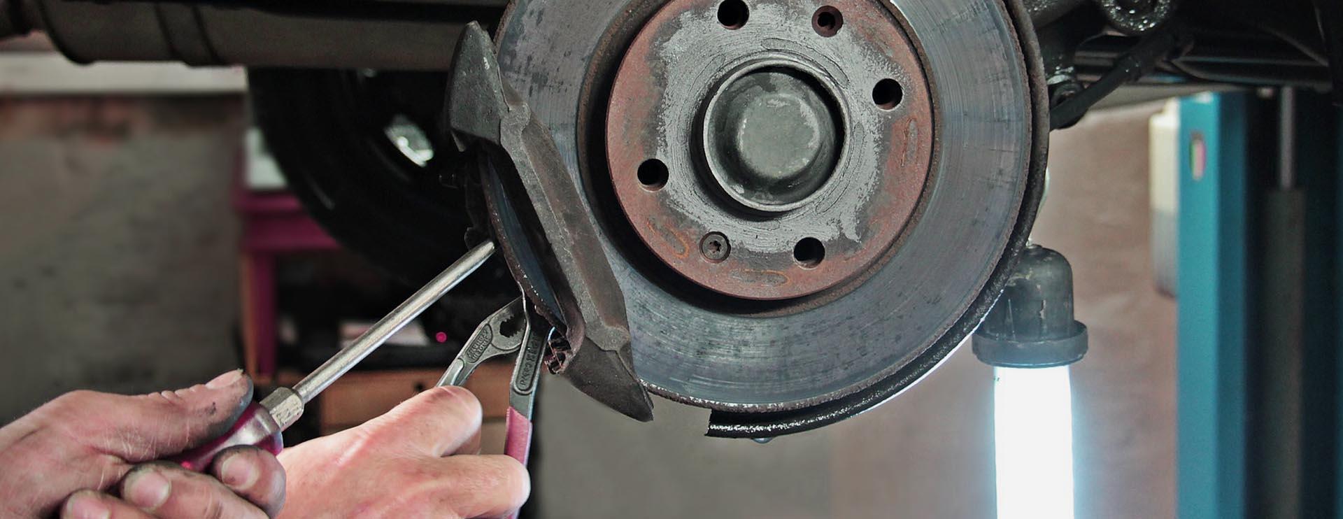 Montage einer Bremsscheibe